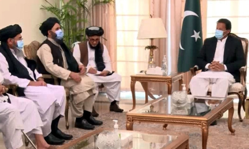 In meeting with Taliban, PM Imran says intra-Afghan talks provide 'historic' opportunity for peace