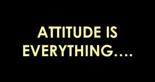 Attitude is everything from Jeff Keller
